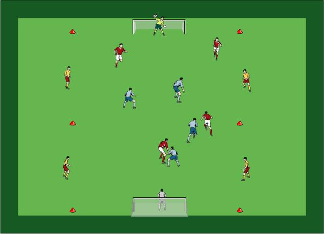 Ejercicio de entrenamiento de fútbol del mes