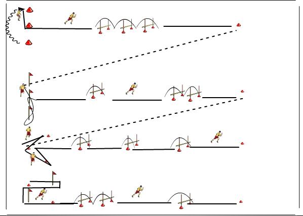 Entrenamiento De F Uacute Tbol Circuito De Velocidad Coordinación Y Arranque
