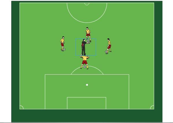 Fußballtraining  Aktionskreis