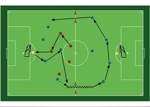 Football training: Tottenham Switching drill