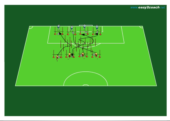 Fussballtraining Kondition Und Koordination Mit Ball Hurden