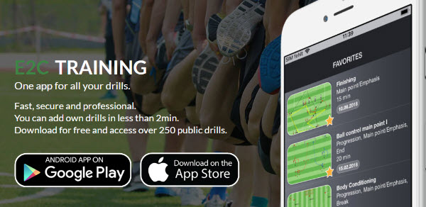 Football exercise database with over 300 exercises for your